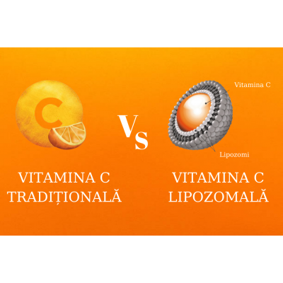 Diferenta dintre Vitamina C clasica si cea lipozomala